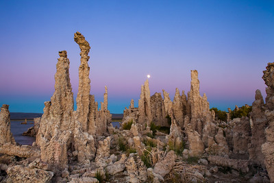 Dusk at Mono Lake, CA.
