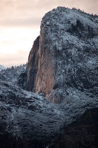 Morning light on Granite. Yosemite National Park, CA