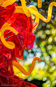 Mexican Hat and Horn Tower Chihuly Exhibit, Dallas Arboretum, TX, 2012