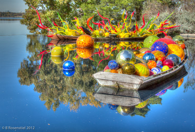 Carnival Boat, Chihuly Exhibit, Dallas Arboretum, TX, 2012