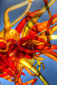 Asymmetrical Tower Chihuly Exhibit, Dallas Arboretum, TX, 2012