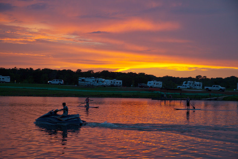 Paddleboard Sunset