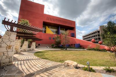 San Antonio Public Library designed by Ricardo Legorreta, San Antonio, TX, 2013