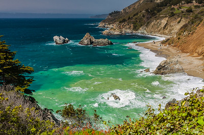 Big Sur Coast in Julia Pfeiffer Burns State Park
