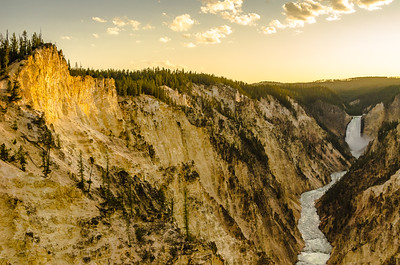 Sunset - Upper Yellowstone Falls