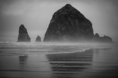 Misty Sea Stacks - Cannon Beach, Oregon