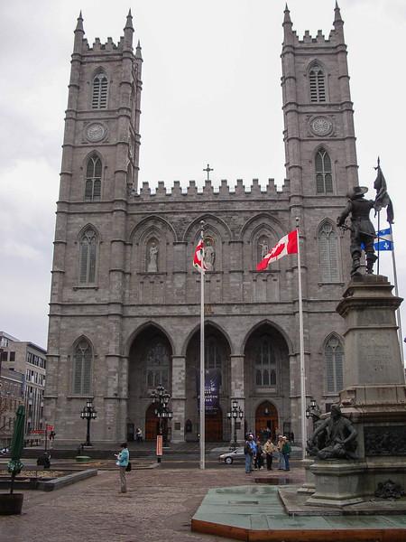 La basilique Notre-Dame de Montréal.