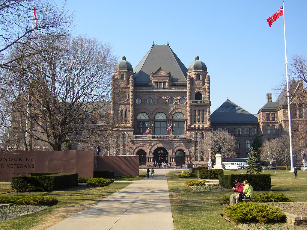 Ontario Legislature Building in Queen's Park.