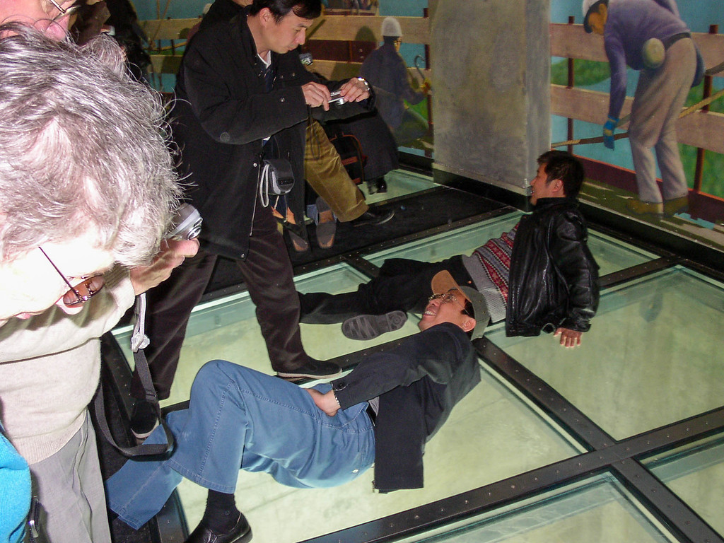 Glass floor at the CN Tower.