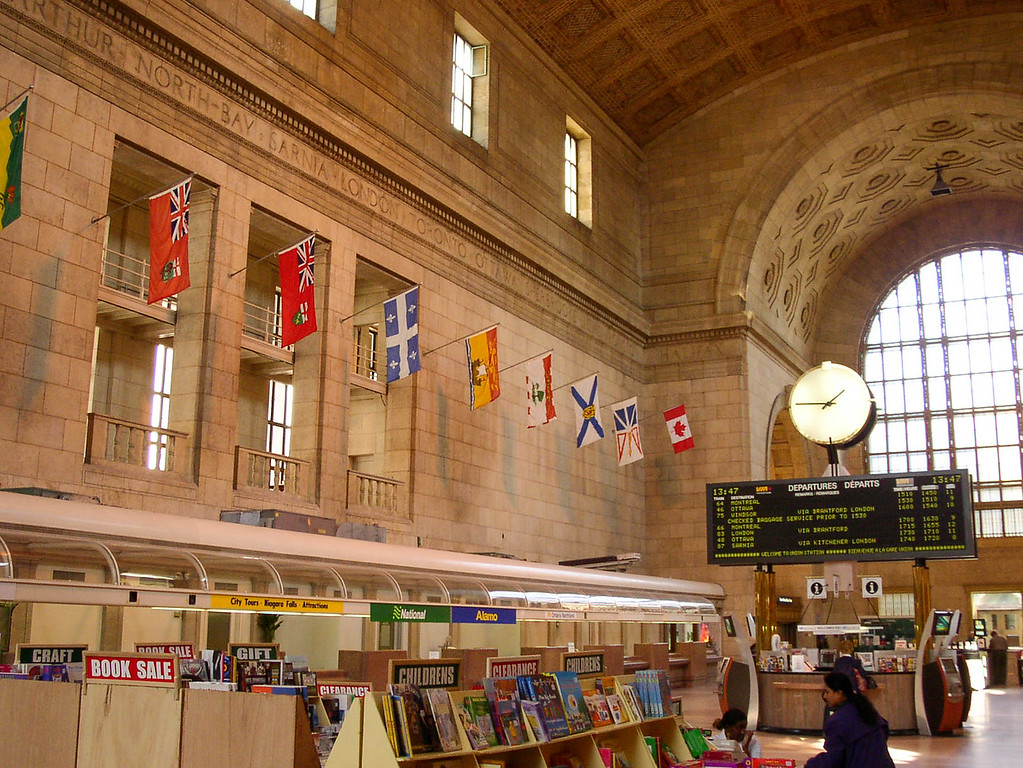Toronto train station.