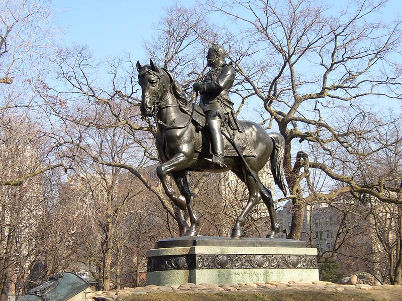 Statue in Queen's Park.
