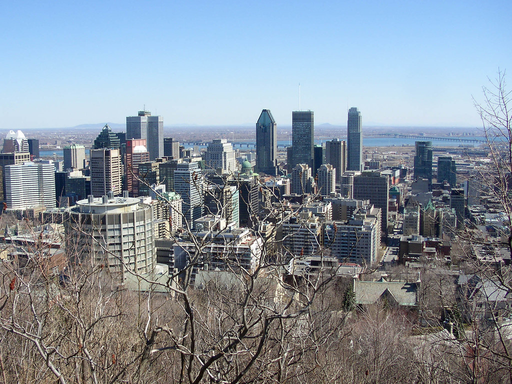 View of the city from Parc du Mont-Royal.