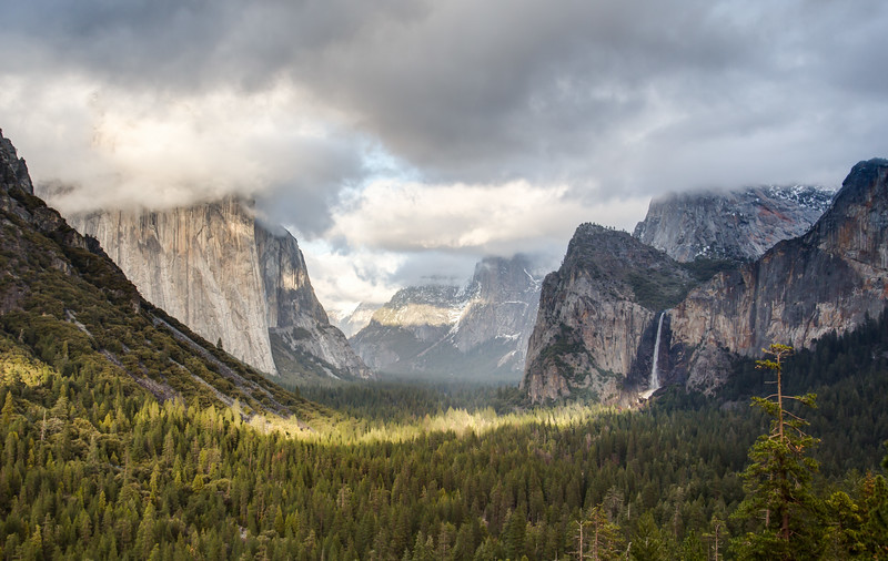 Tunnel View and Bridalveil Falls
