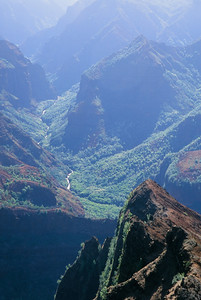 The Waimea River Running Through the Canyon