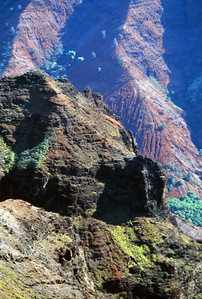 Waimea Canyon's Red Rock Formation