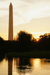Sunrise on the Reflecting Pool