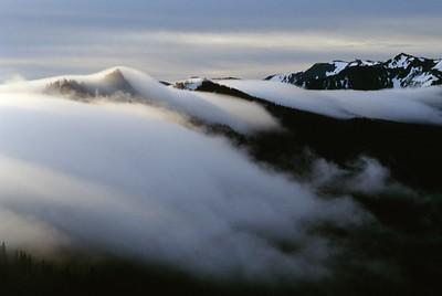 Fog Creeping over The Mountain