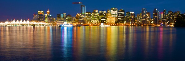 Panorama of downtown Vancouver skyline, Vancouver, British Columbia, Canada