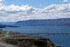 View of Wanapum Lake and the I-90 from Wild Horse Monument in central Washington