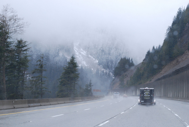 Snowfall on the I90