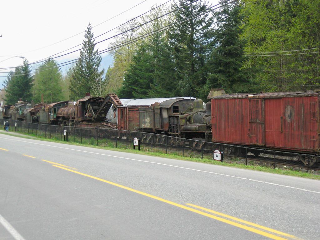 Old railroad cars at the railroad museum in Snoqualmie