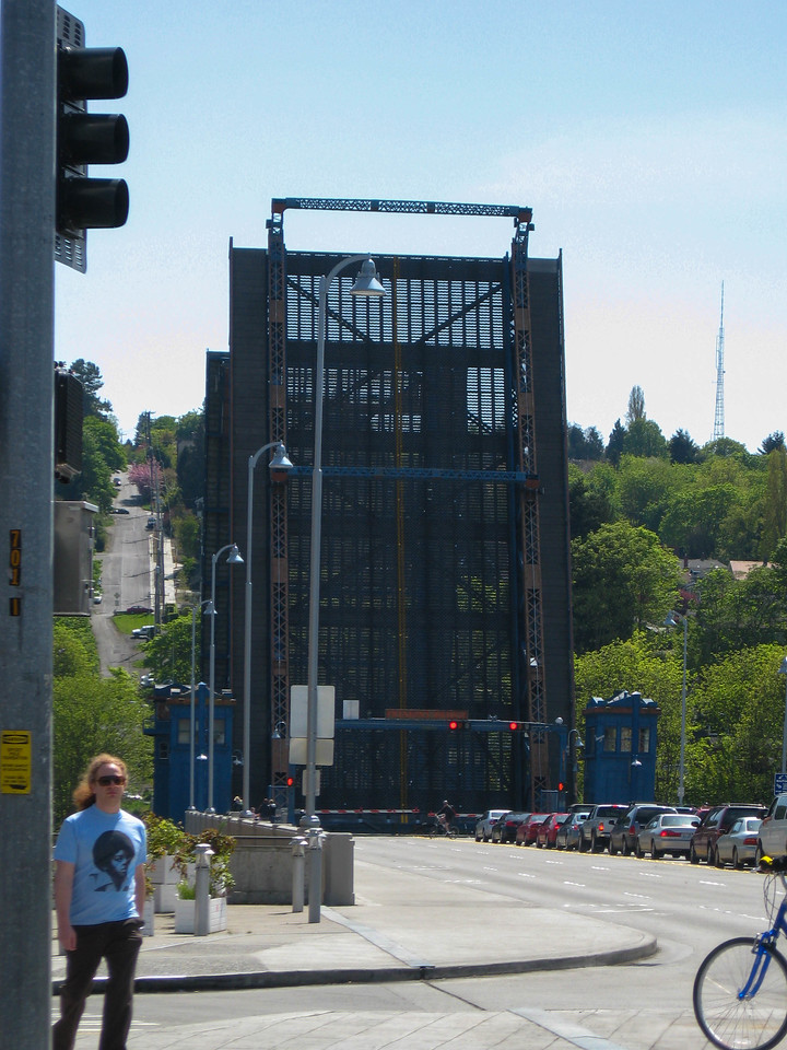 Fremont drawbridge in up position