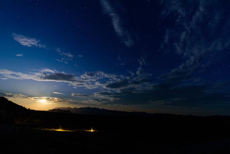 Moon Over Big Bend