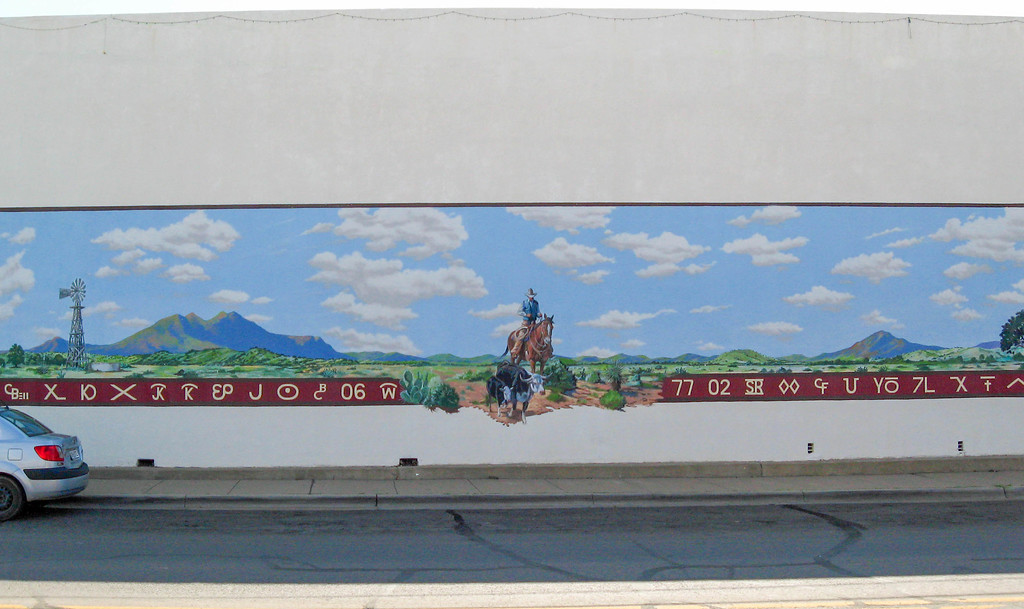 Downtown Alpine murals.
