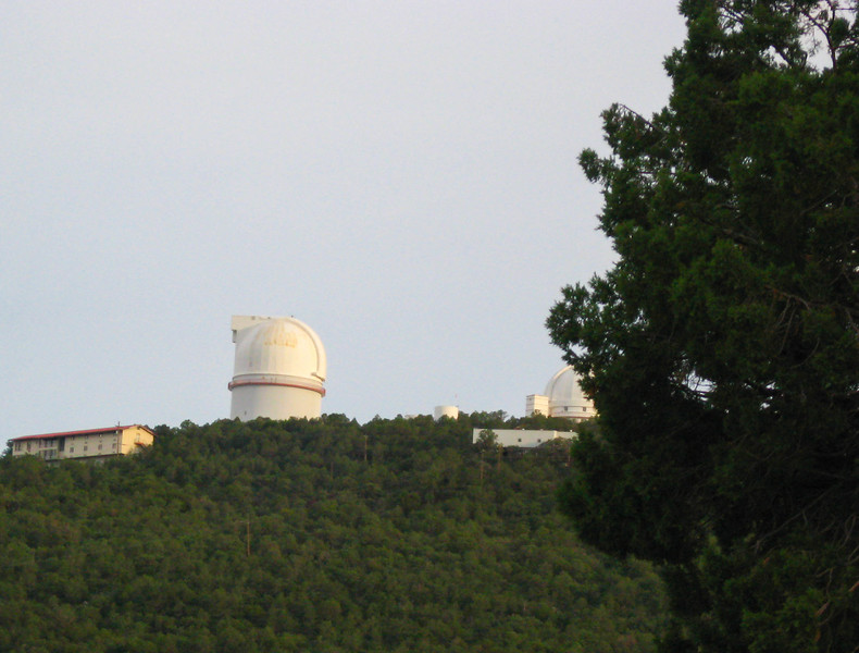 The McDonald Observatory, a part of the University of Texas System, is located high atop the Davis Mountains.