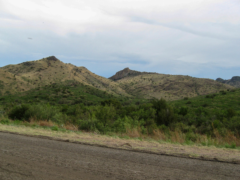 Driving north from Alpine toward Fort Davis on Texas 118
