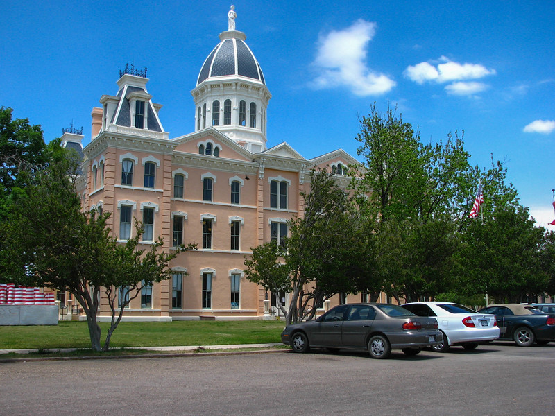 Presidio County Courthouse in Downtown Marfa, Texas.
