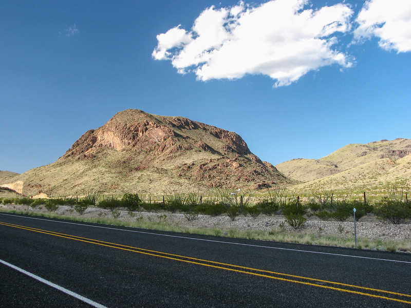 Heading south of Alpine toward Big Bend National Park.