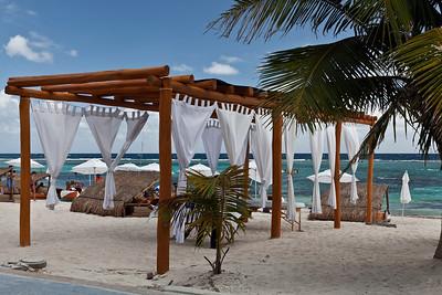 Mahahual, Mexico A beach spa by the sea in Mahahual.