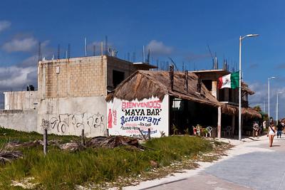 Mahahual, Mexico A bar along the beach in Mahahual.