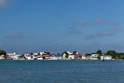 Belize City, Belize A view of Belize City from off shore.