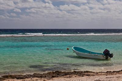 Mahahual, Mexico A small boat at the seashore at Mahahual.