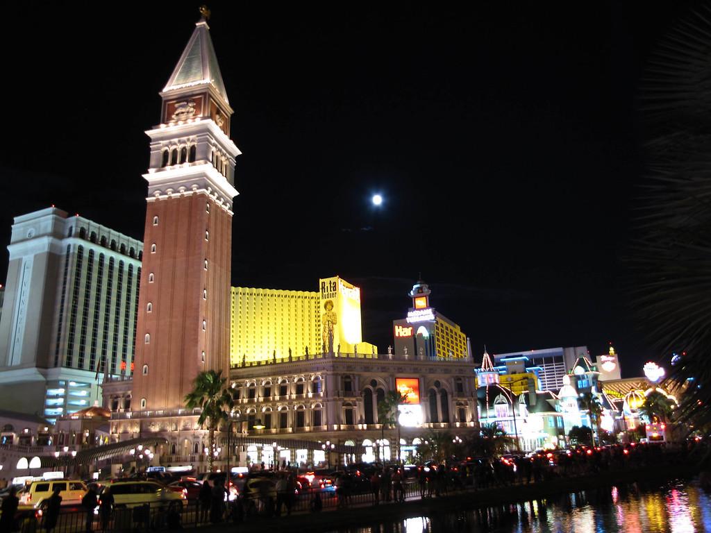 Las Vegas Strip at night.
