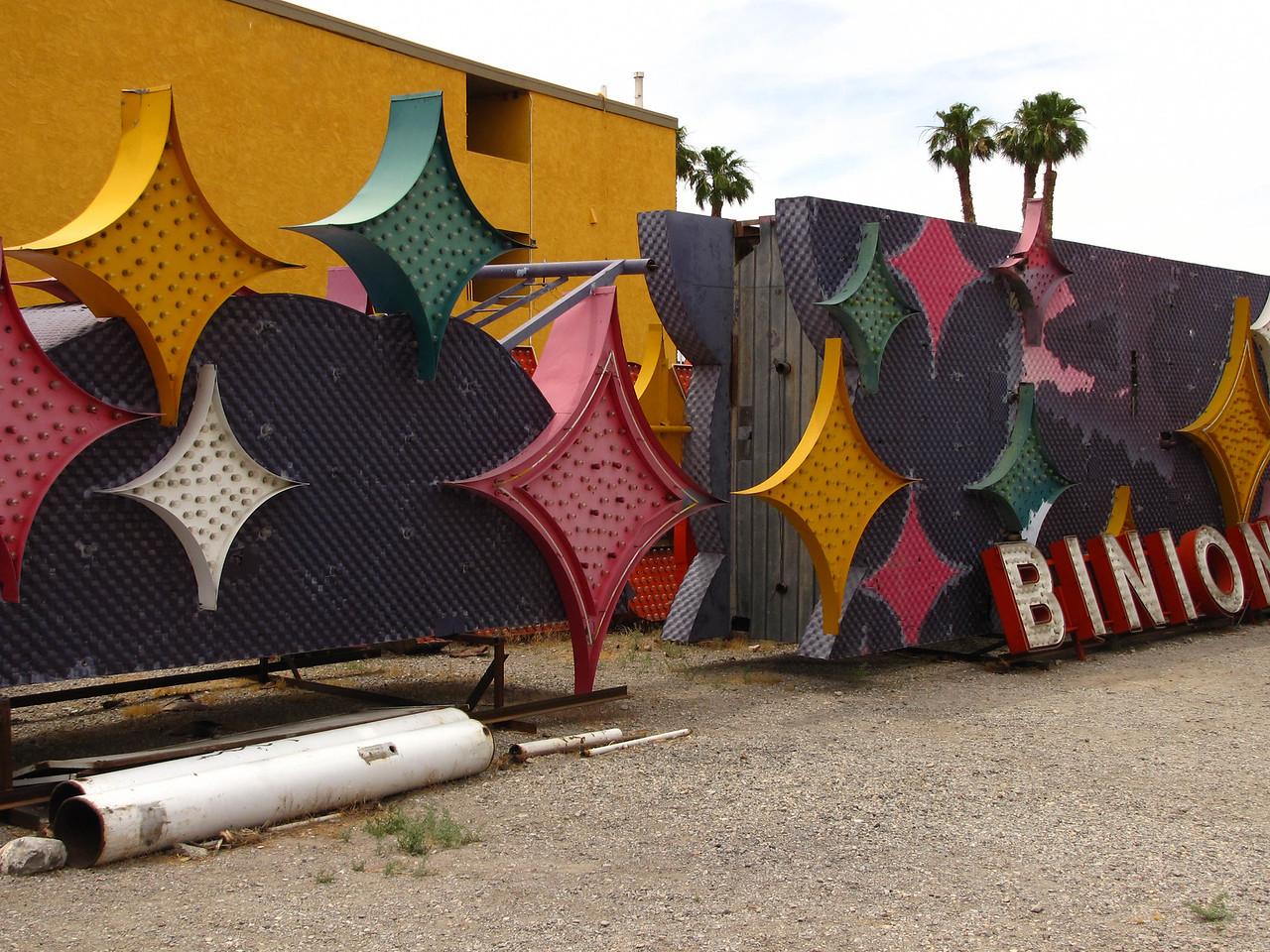 Old casino signs in the Las Vegas sign boneyard.