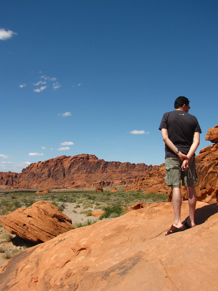 Brian on top of a beehive formation in Valley of Fire State Park.