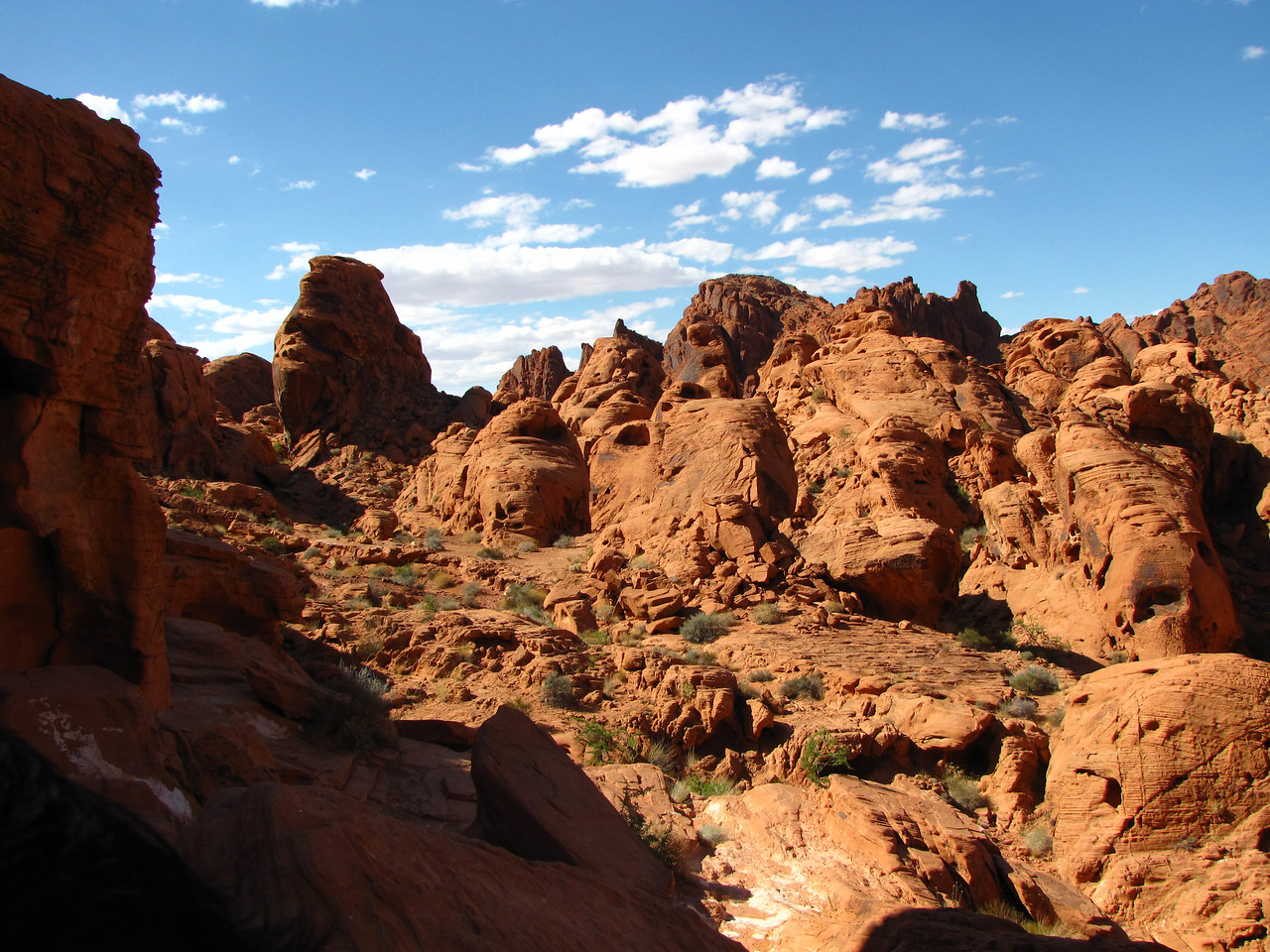 Hiking the Mouse's Tank Trail in Valley of Fire State Park.
