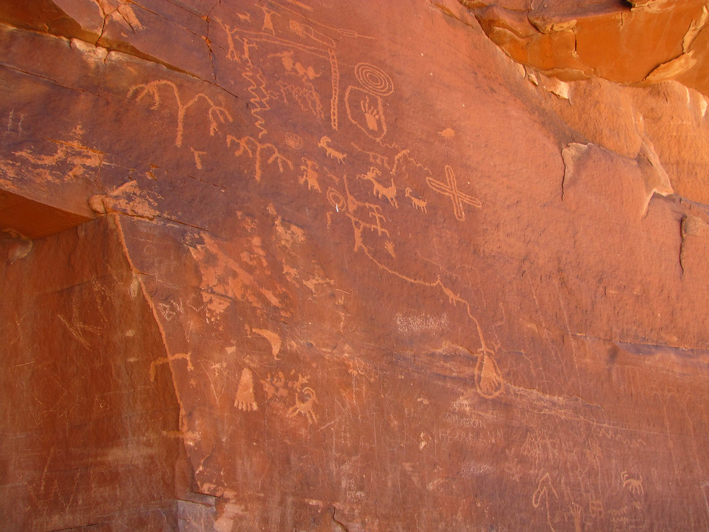 Petroglyphs in Valley of Fire State Park.