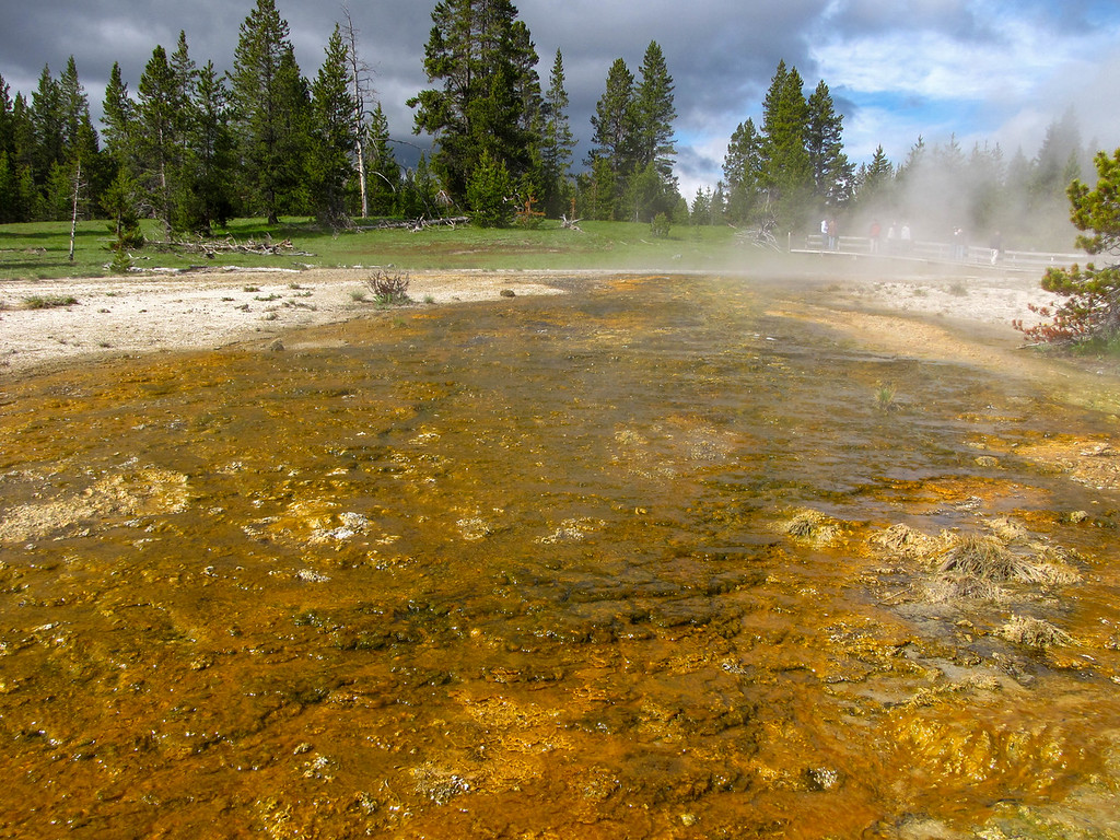 West Thumb Geyser Basin, Yellowstone Lake, Yellowstone National Park.