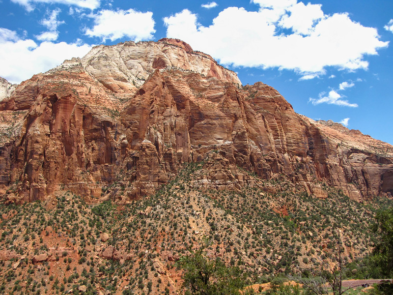 Mountains on the east side of Zion National Park.