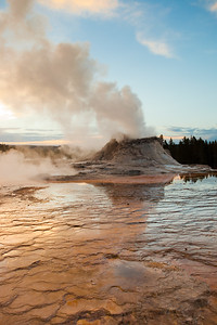 Castle geyser. Yellowstone National Park, WY