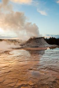 Castle geyser. Yellowstone National Park, WY