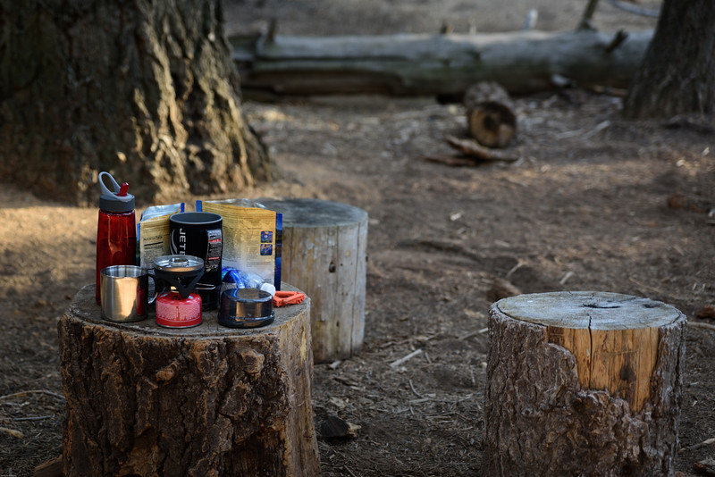 This was our dining area at our campsite in the LYV campground.