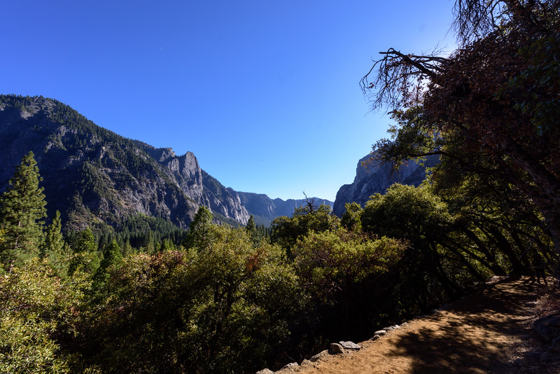 I took this overlooking the valley, facing west near the base of Yosemite Falls.