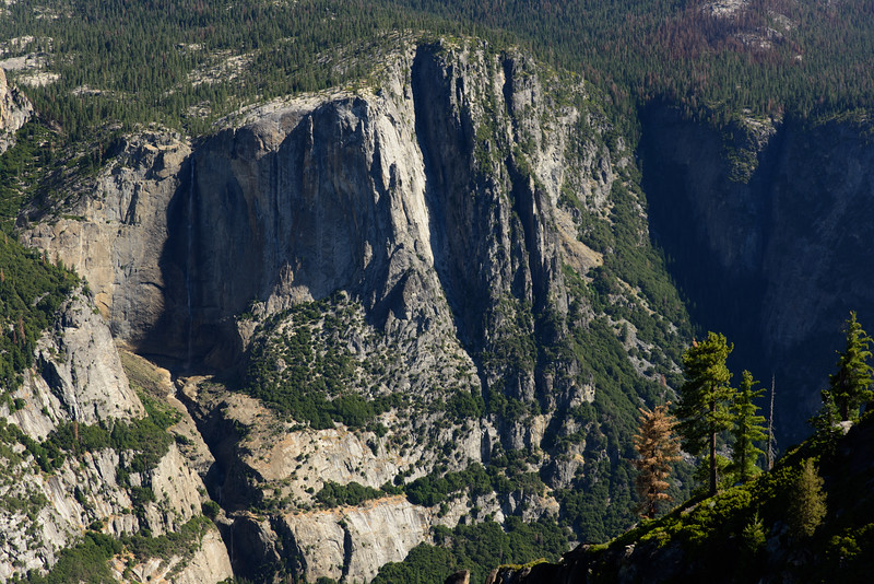 Yosemite Falls closeup from across the Valley.