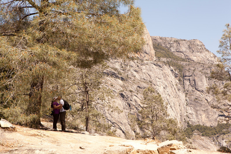 Caught.<br /> Liz and Will<br /> Hetch Hetchy Hike