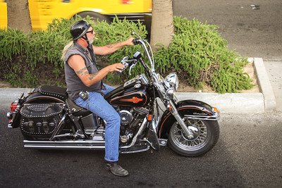 Biker on his Harley, Las Vegas, Nevada, USA